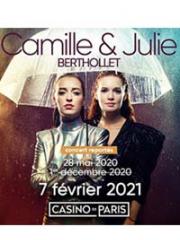 Theatre spectacle : CAMILLE ET JULIE BERTHOLLET - CASINO DE PARIS