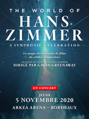Consulter les détail du spectacle : THE WORLD OF HANS ZIMMER - ARKEA ARENA - FLOIRAC145139