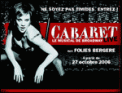 Theatre spectacle : CABARET