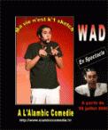 Theatre spectacle : WAD, MA VIE N\'EST K\'1 SKETCH