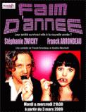 Theatre spectacle : FAIM D\'ANNEE