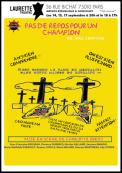 Theatre spectacle : Pas de repos pour un champion