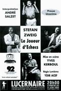 Theatre spectacle : Le joueur d\\\'�checs